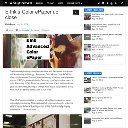 E Ink's Color ePaper up close