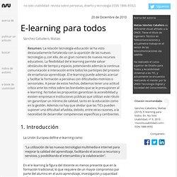 E-learning para todos