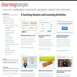 E-learning Quizzes and Learning Activities