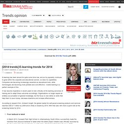 E-learning trends for 2014
