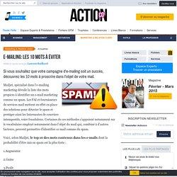 E-mailing: les 10 mots à éviter