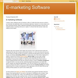 E-marketing Software: E-marketing Software