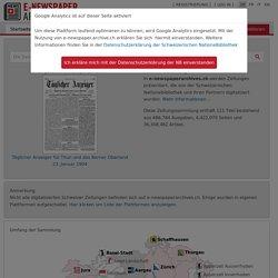 Présentation — e-newspaperarchives.ch