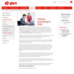 E.ON - Power and Gas - Careers - Students & Graduates - Graduates - Inhouse Consulting