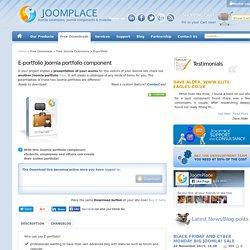 E-portfolio Joomla! component