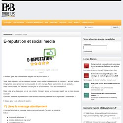 E-reputation et social media