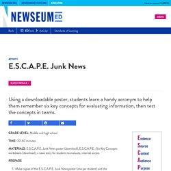 E.S.C.A.P.E. Junk News