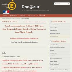 Doc@zur : tout sur e-sidoc et bcdi