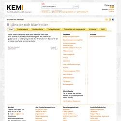 E-tjänster och blanketter - Kemikalieinspektionen