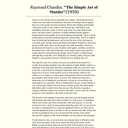 The Simple Art of Murder R Chandler