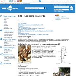 Wikiwater - Les pompes à corde