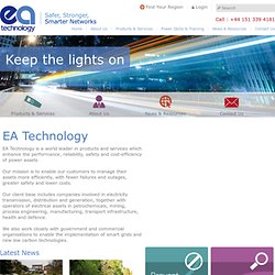 EA Technology Group - Delivering Innovation in Power Engineering