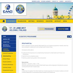 EAACI Congress 2017 - Allied Health Day