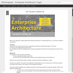 EAComposer - Enterprise Architecture Togaf: EA: Top Down vs Bottom Up
