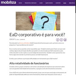 EaD corporativo funciona para você?