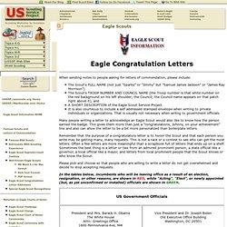 Eagle Congratulation Letters