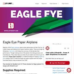how to make a Eagle Eye Paper Airplane design!