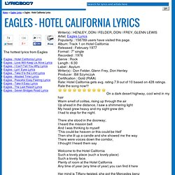 lyrics for hotel california: