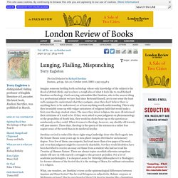 Terry Eagleton reviews 'The God Delusion' by Richard Dawkins · LRB 19 October 2006