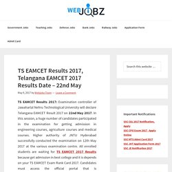 TS EAMCET Results 2017, Telangana EAMCET 2017 Results on 22nd May