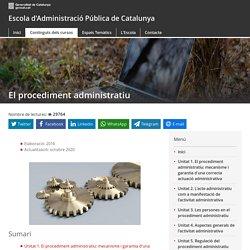 EAPC Wiki - El procediment administratiu