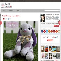 Sock Lop Eared Bunny - Free Sewing Pattern