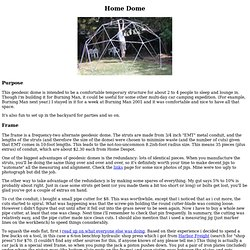 Earl's Geodesic Domes Page - Home Dome