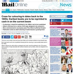 Earliest colouring books are to be reprinted to cash in on the current boom