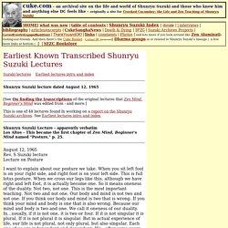 Earliest Shunryu Suzuki lectures-65-08-12