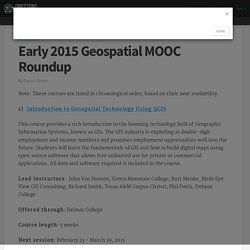 Early 2015 Geospatial MOOC Roundup