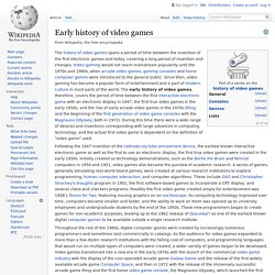 Early history of video games - Wikipedia