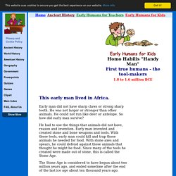 Handy Man - Tools - Early Humans for KidsEarly Humans For Kids