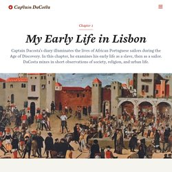 My Early Life in Lisbon — Captain DaCosta