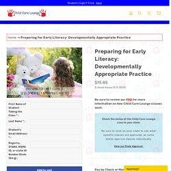 Early Literacy Online Class