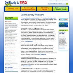 Early Literacy Webinars