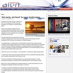 'Act early, act local' to save landscapes
