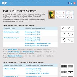 Early Number Sense - I See Maths