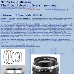 Early Pentax Takumar Lenses