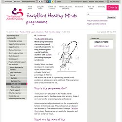 EarlyBird Healthy Minds programme