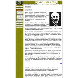 Georges Méliès - EarlyCinema.com