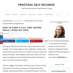 How to Earn a Full Time Income While Living Off Grid