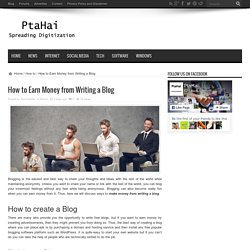 How to Earn Money from Writing a Blog