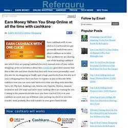 Earn Money When You Shop Online