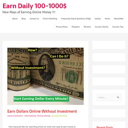 Earn dollars online free easy
