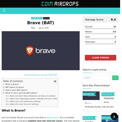 How to Earn BAT (Free BAT Tokens) With Brave?