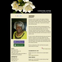 In Memory of Earnestine Cotton
