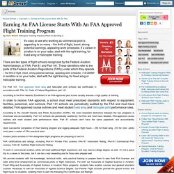 Earning An FAA License Starts With An FAA Approved Flight Training Program by Kyle Beebe