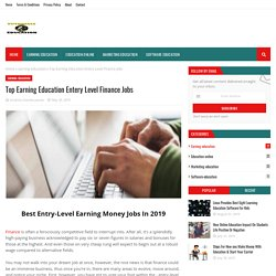 Top Earning Education Entery Level Finance Jobs