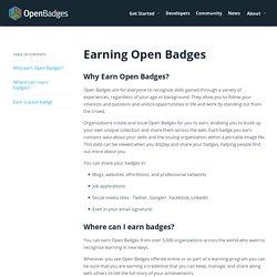 Earning Open Badges