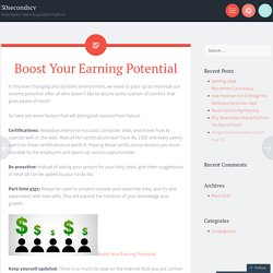 Boost Your Earning Potential